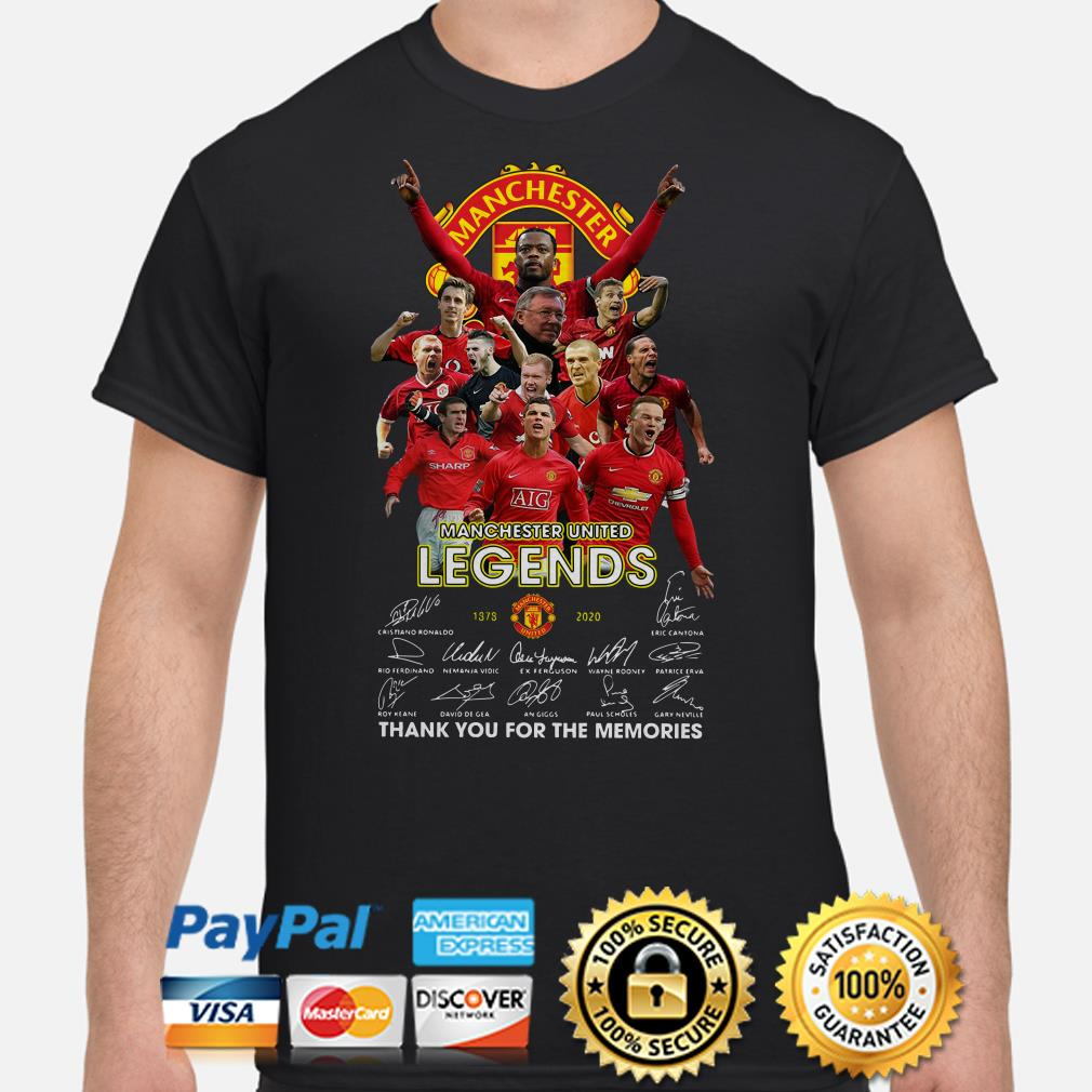 Manchester United Legends signature thank you for the memories shirt