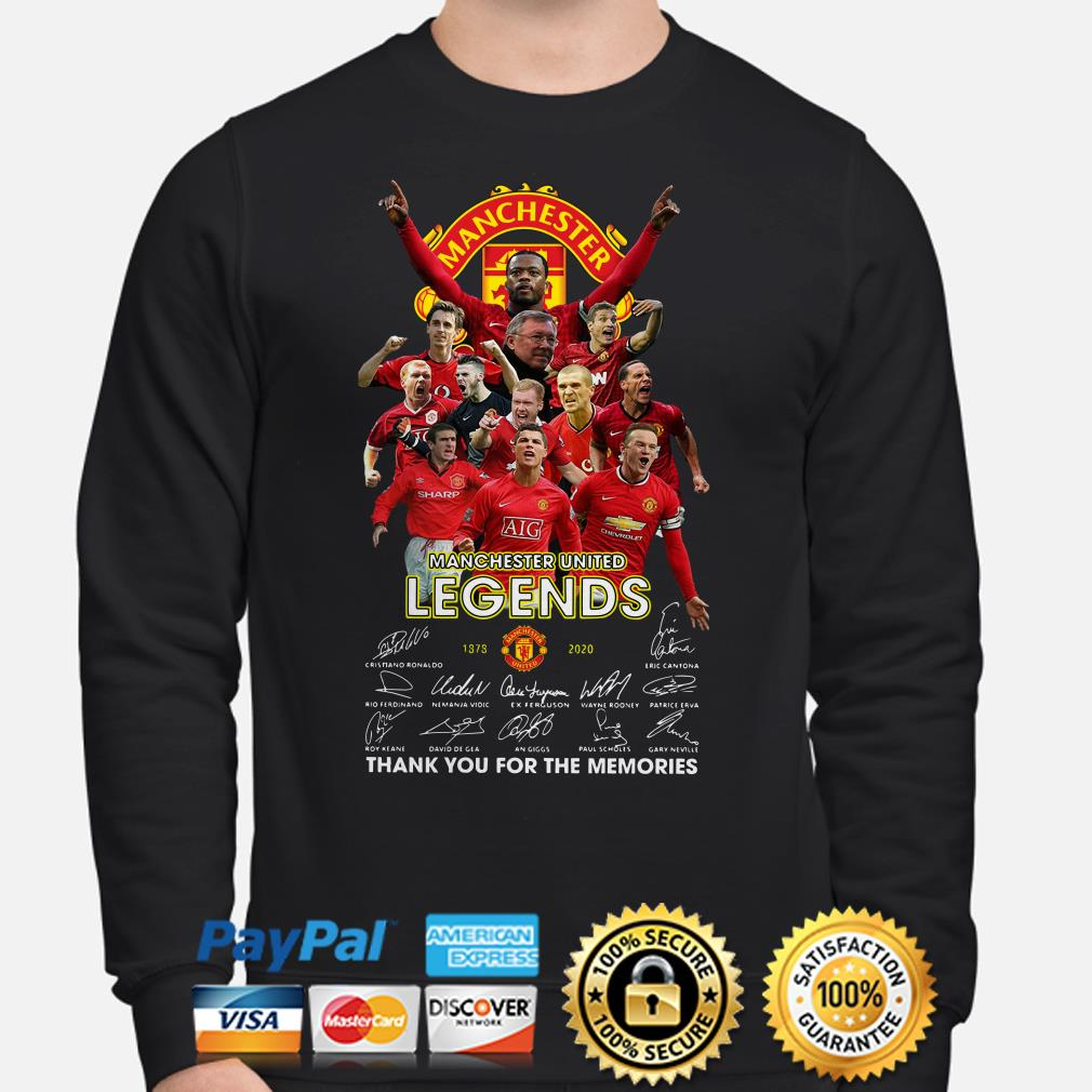 Manchester United Legends signature thank you for the memories Sweater