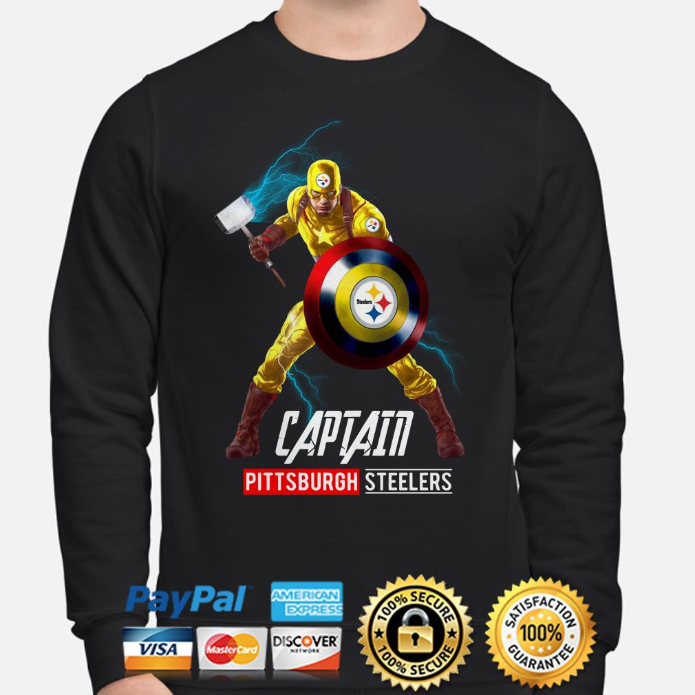 Marvel Captain America Captain Pittsburgh Steelers Sweater