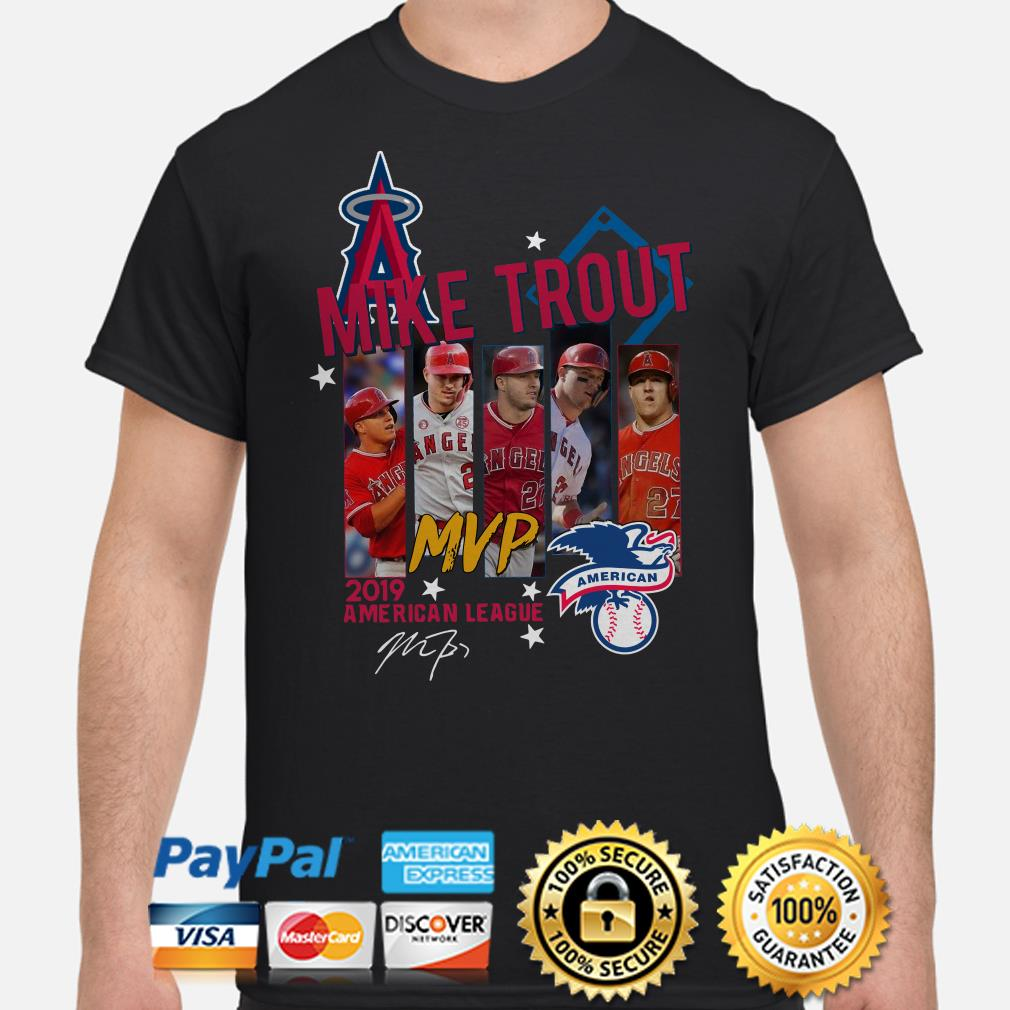 Mike Trout MVp 2019 American League signature shirt