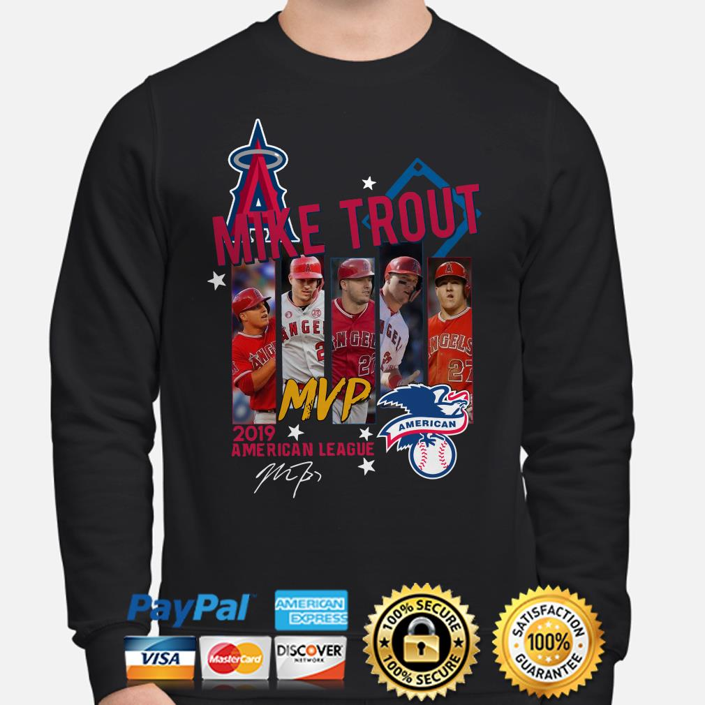 Mike Trout MVp 2019 American League signature Sweater