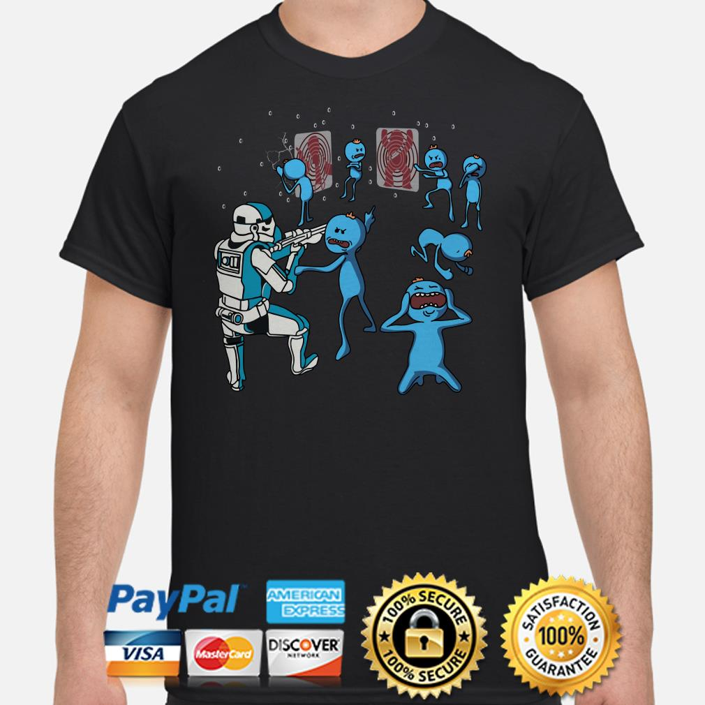 Mr Meeseeks dnd Stormtrooper Star Wars shooting shirt