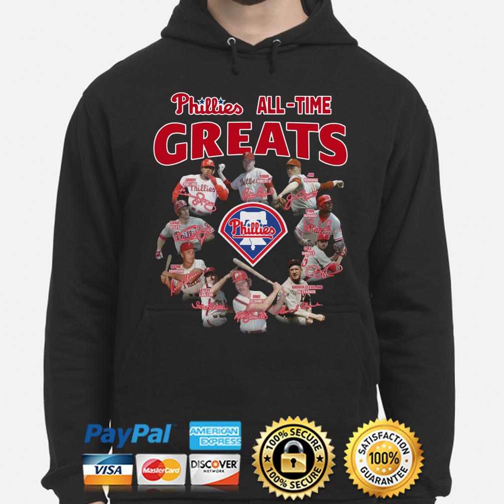Phillies all-time greats signature Hoodie