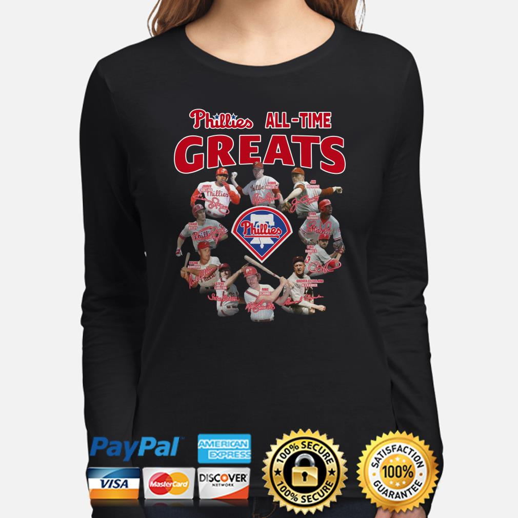 Phillies all-time greats signature Long sleeve
