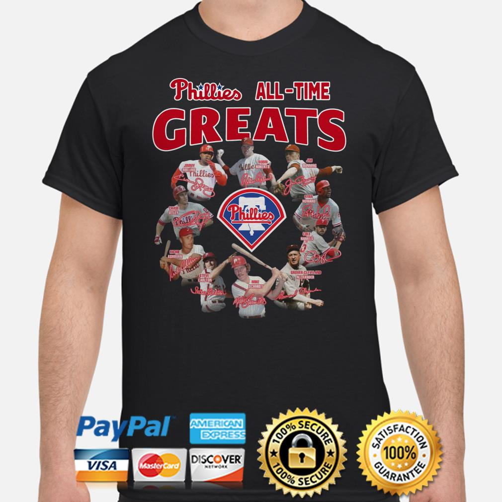 Phillies all-time greats signature shirt
