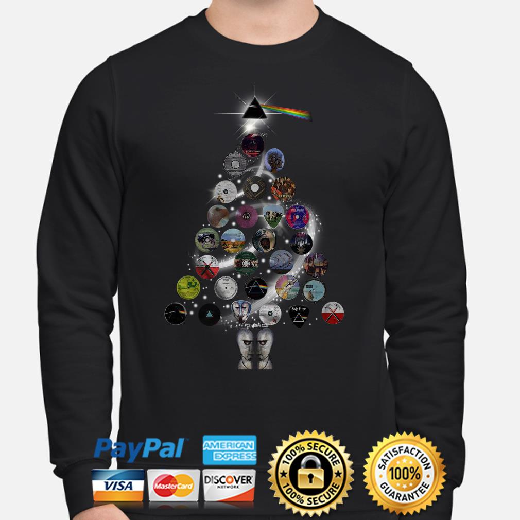 Pink Floyd albums Christmas tree sweater