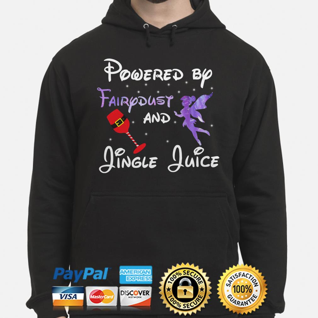 Powered by Fairydust and Jungle Juice Christmas hoodie