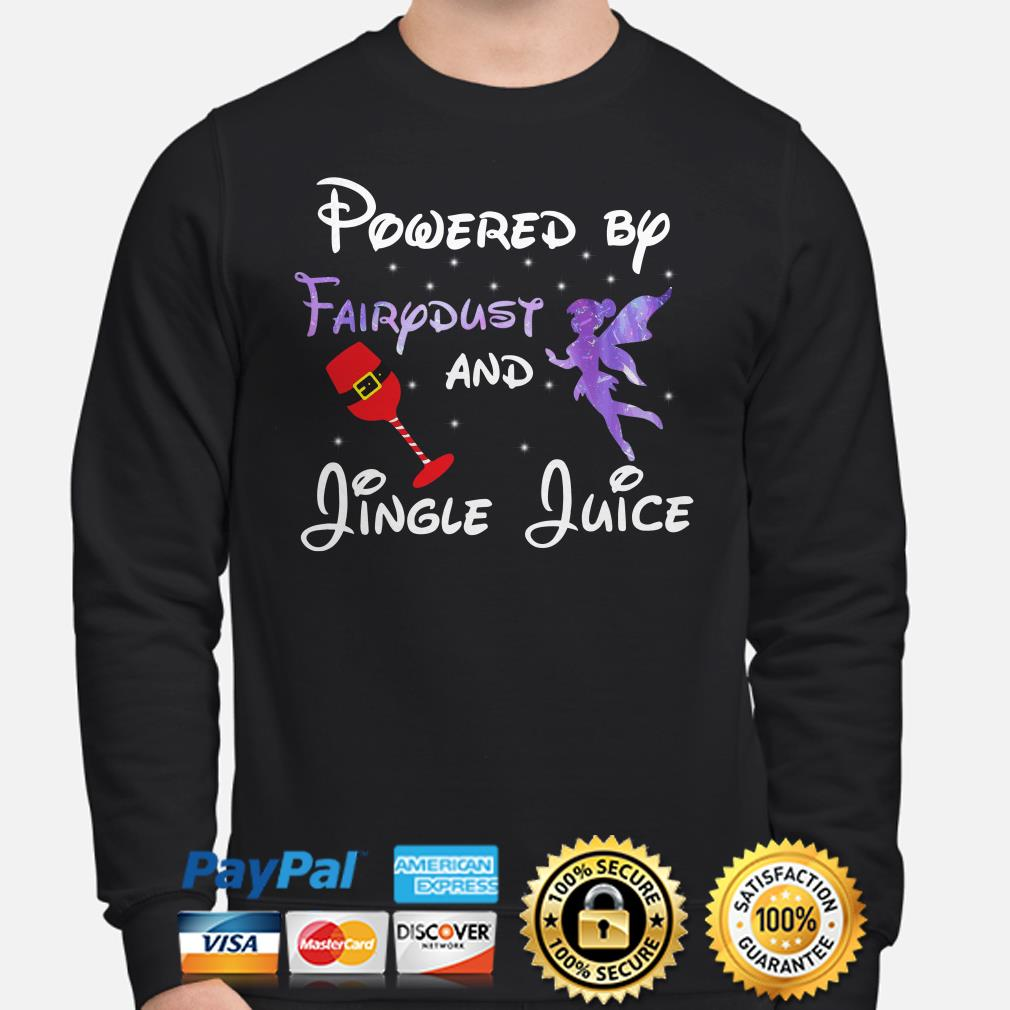 Powered by Fairydust and Jungle Juice Christmas sweatshirt