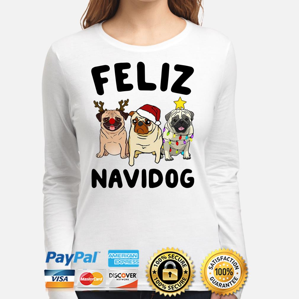 Pug Feliz Navidog Christmas long sleeve