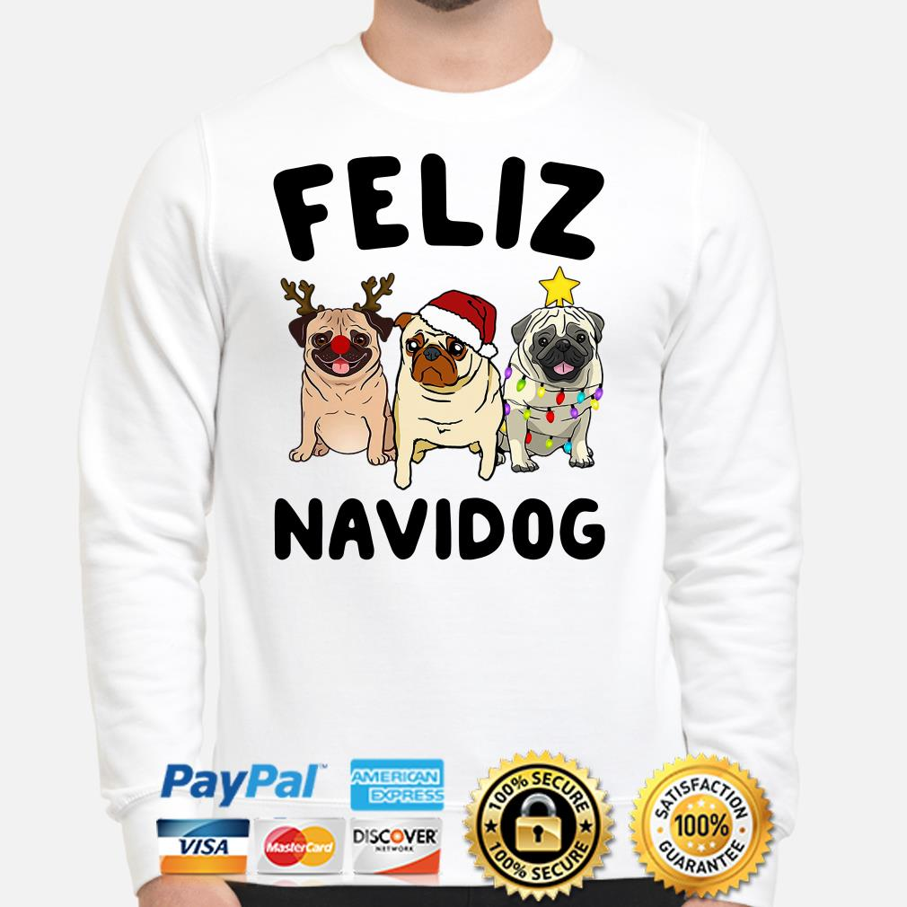 Pug Feliz Navidog Christmas sweater