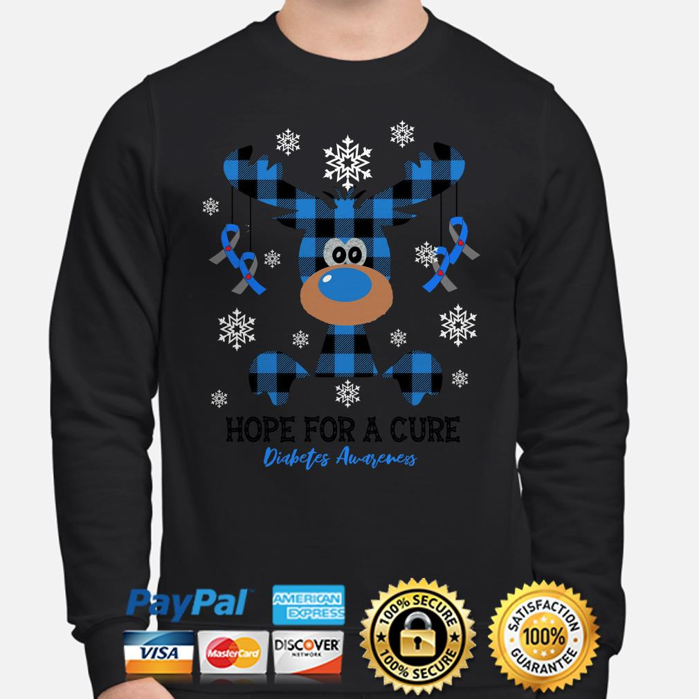 Reindeer hope for a Cure Diabetes Awareness Christmas sweater