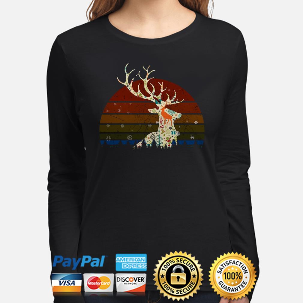 Reindeer Vintage Christmas long sleeve