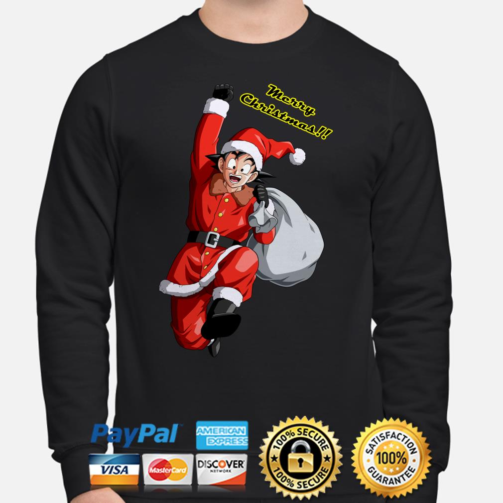 Santa Claus Son Goku Merry Christmas sweater