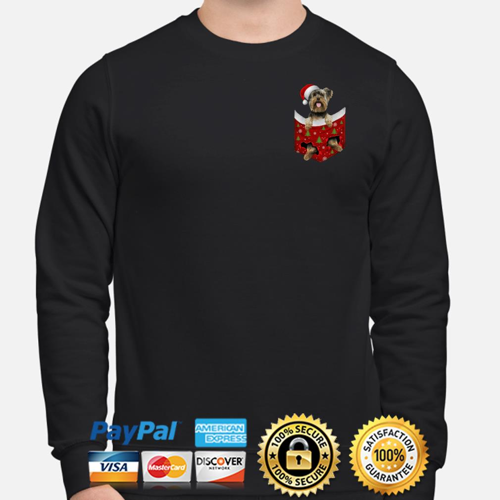 Santa Yorkshire in the Pocket Christmas sweater