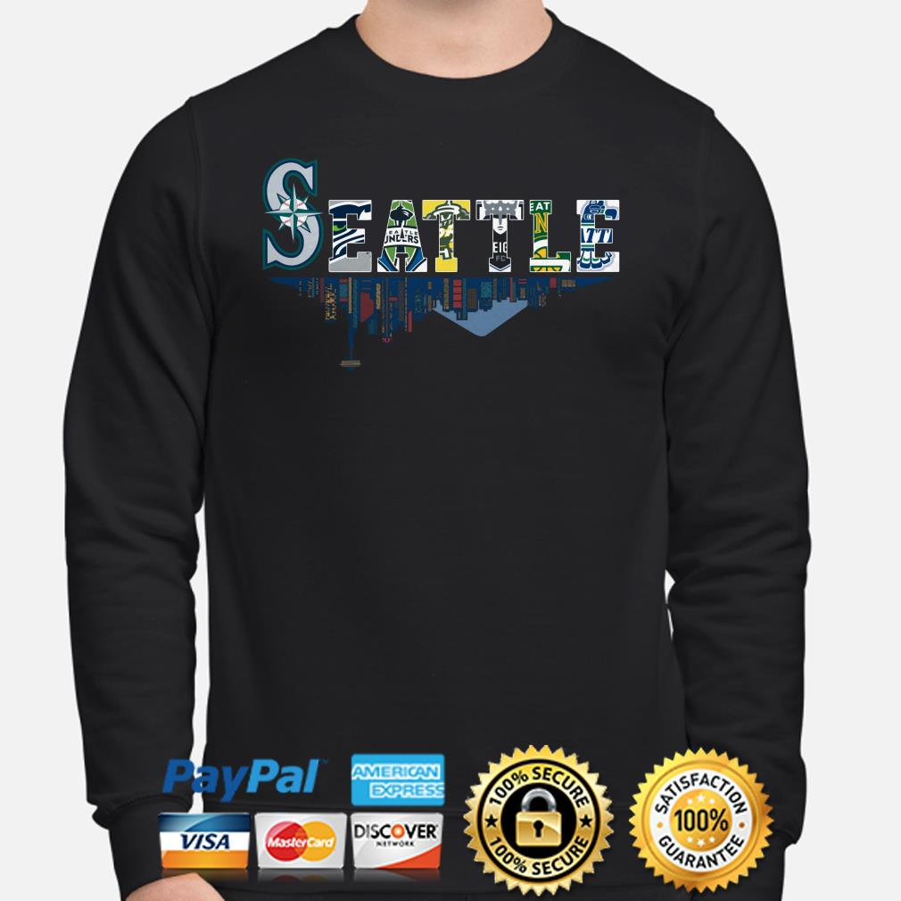 Seattle Mariners Seahawks Sounders Storm Supersonics Thunderbirds sweater