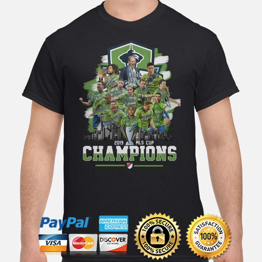 Seattle Sounders FC 2019 MLS Cup Champions signature shirt