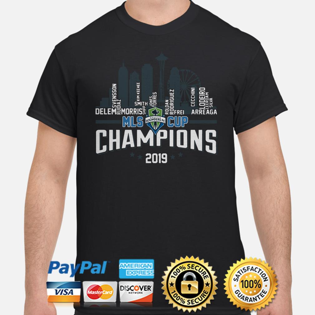 Seattle Sounders FC MLS Cup 2019 Champiosn players name shirt