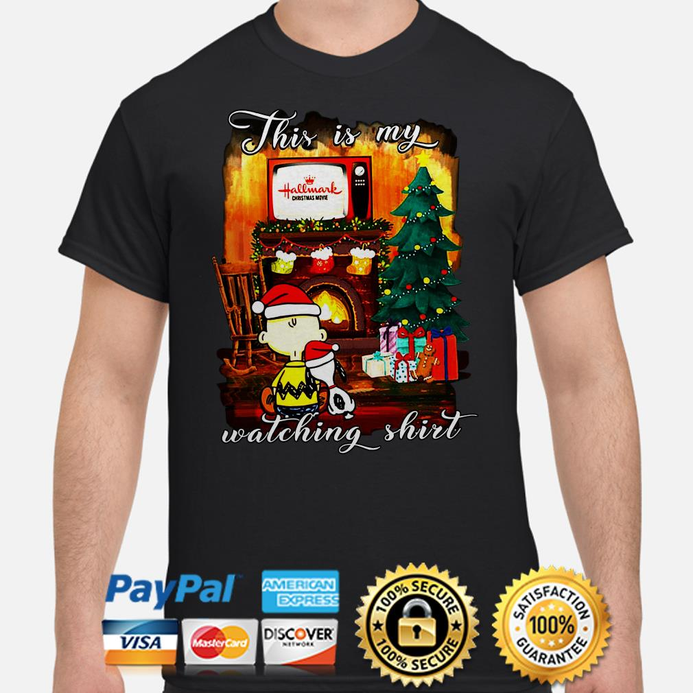 Snoopy and Charlie Brown this is my Hallmark Christmas movie watching shirt