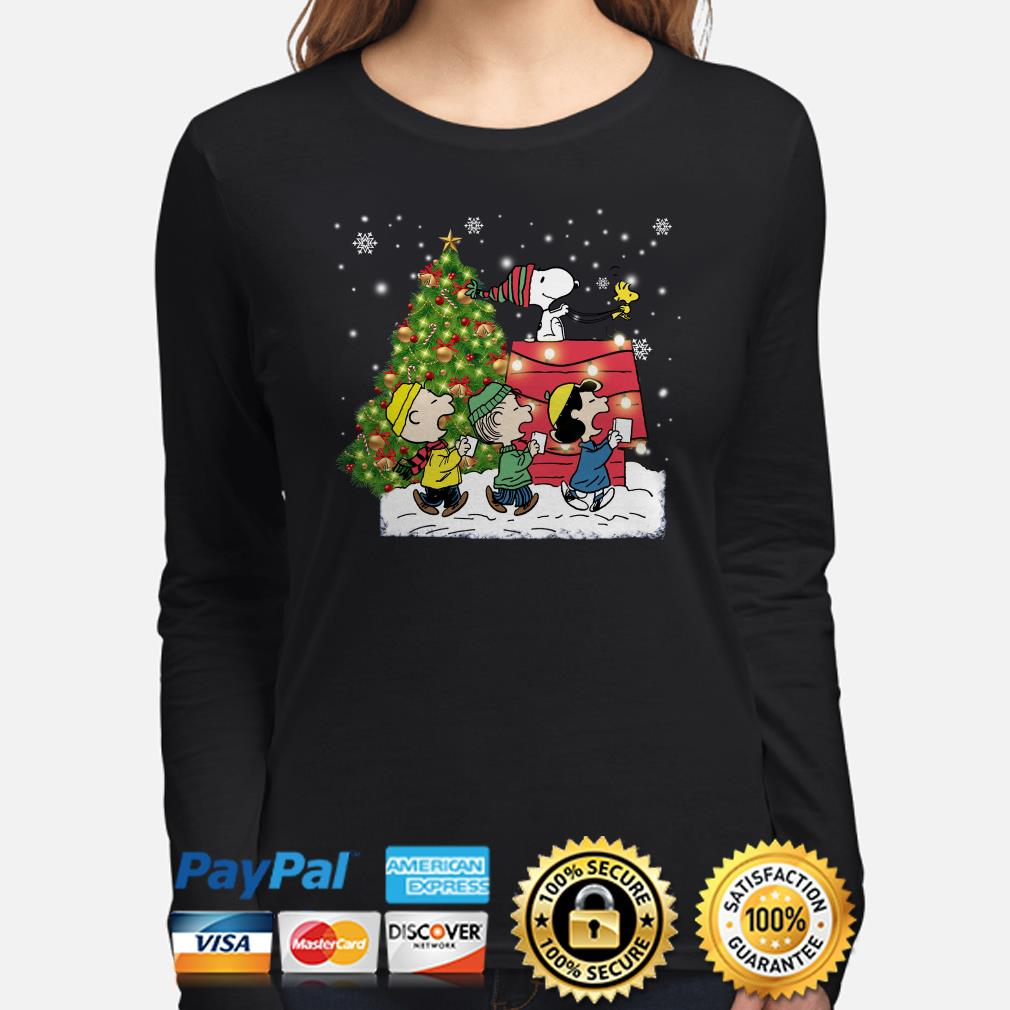 Snoopy and Peanut characters Christmas long sleeve