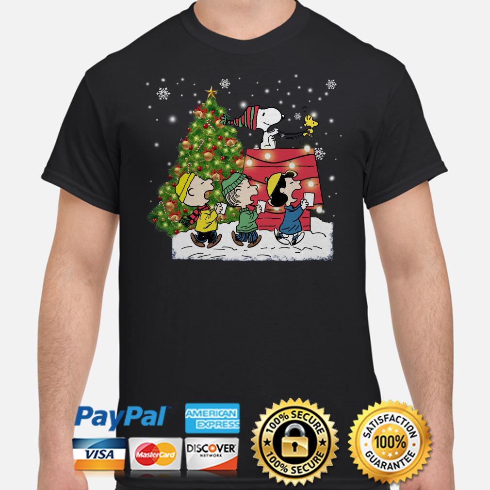 Snoopy and Peanut characters Christmas t-shirt
