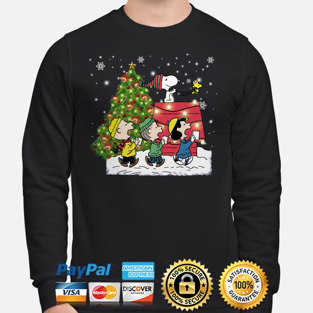 Snoopy and Peanut characters Christmas sweater