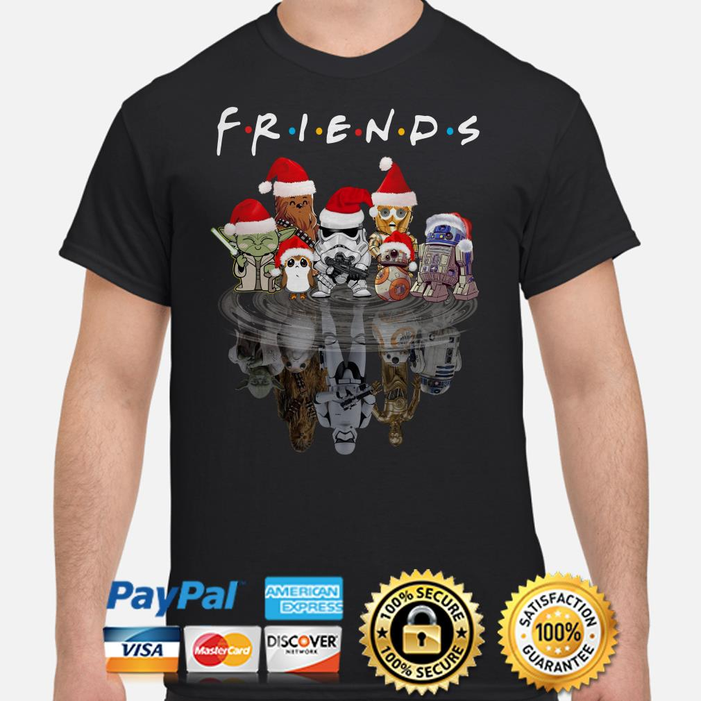 Star Wars Characters water mirror Friends Christmas shirt