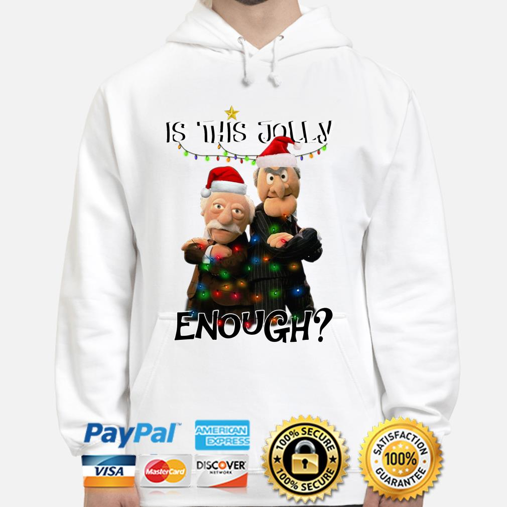 Statler and Waldorf is this jolly enough Christmas hoodie