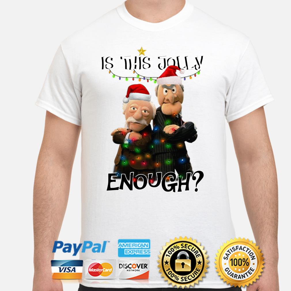 Statler and Waldorf is this jolly enough Christmas T-shirt