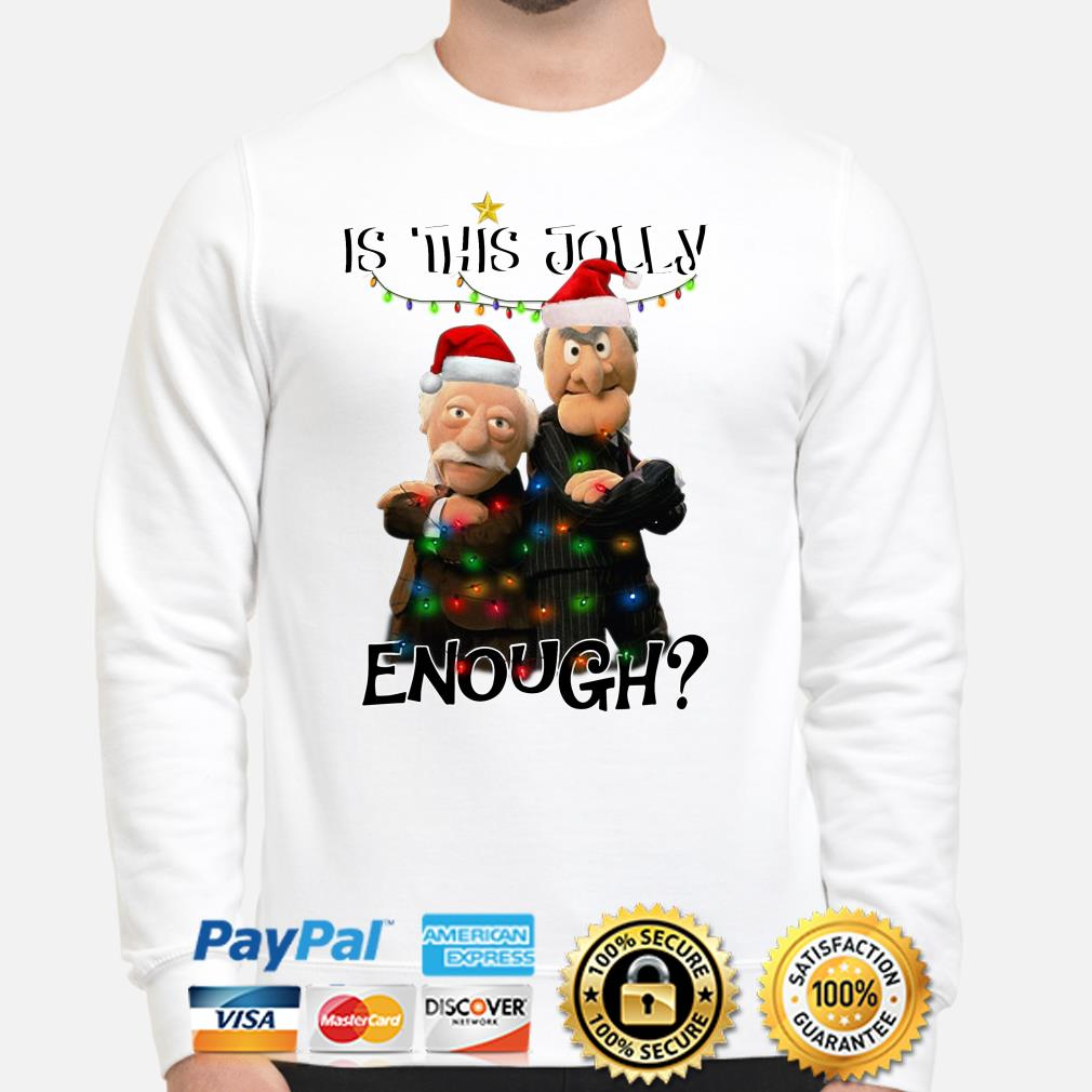 Statler and Waldorf is this jolly enough Christmas sweater