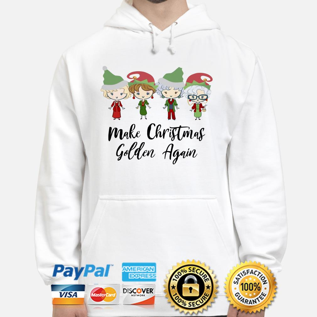 The Golden Girls chibi Make Christmas golden again hoodie