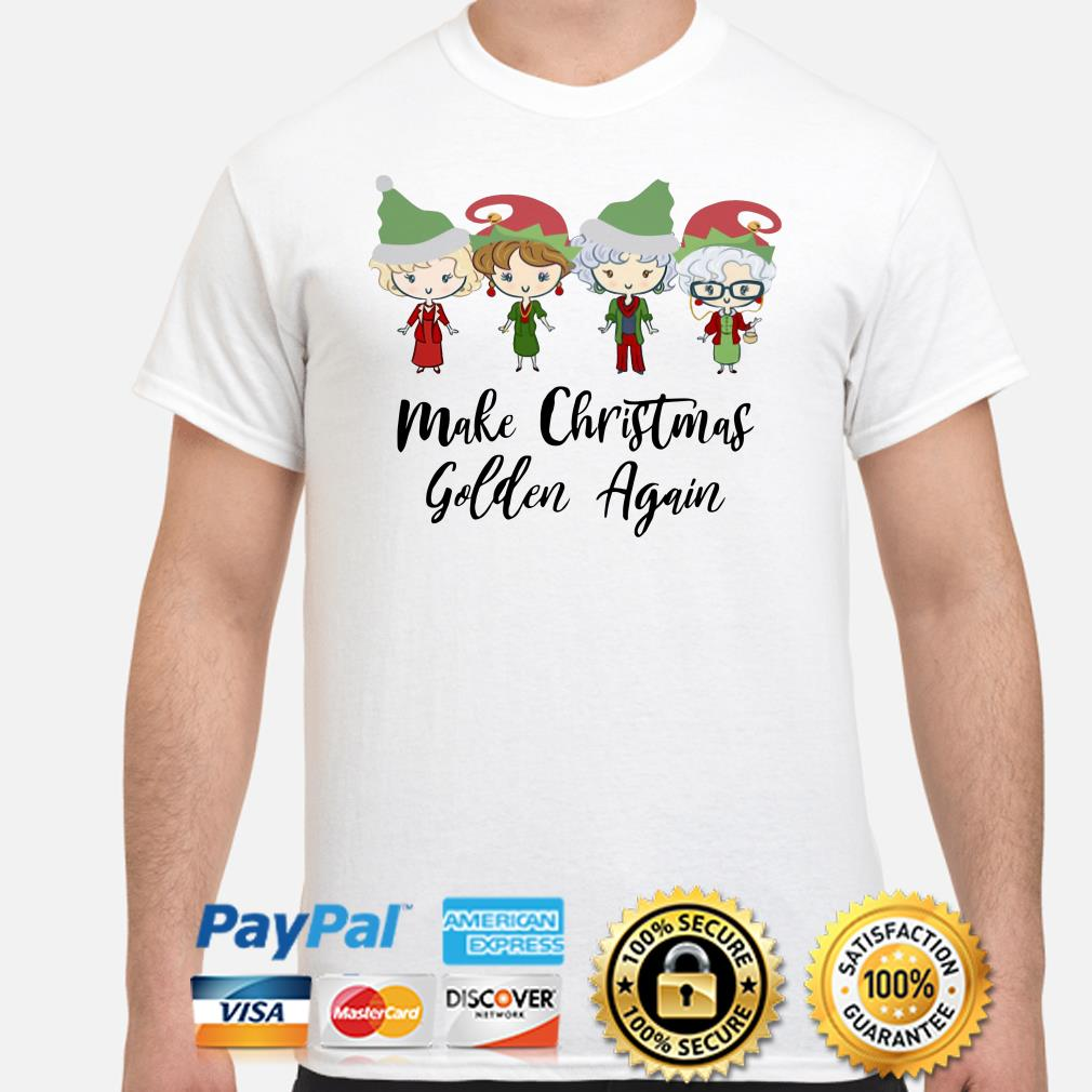 The Golden Girls chibi Make Christmas golden again t-shirt