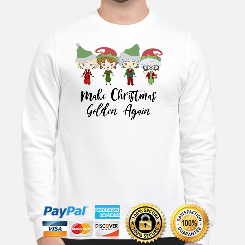 The Golden Girls chibi Make Christmas golden again sweater