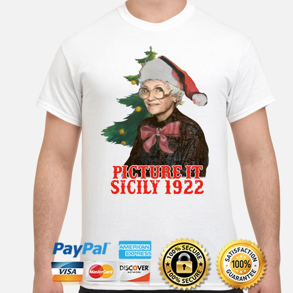 The Golden Girls Sophia Petrillo picture it sicily 1922 Christmas t-shirt