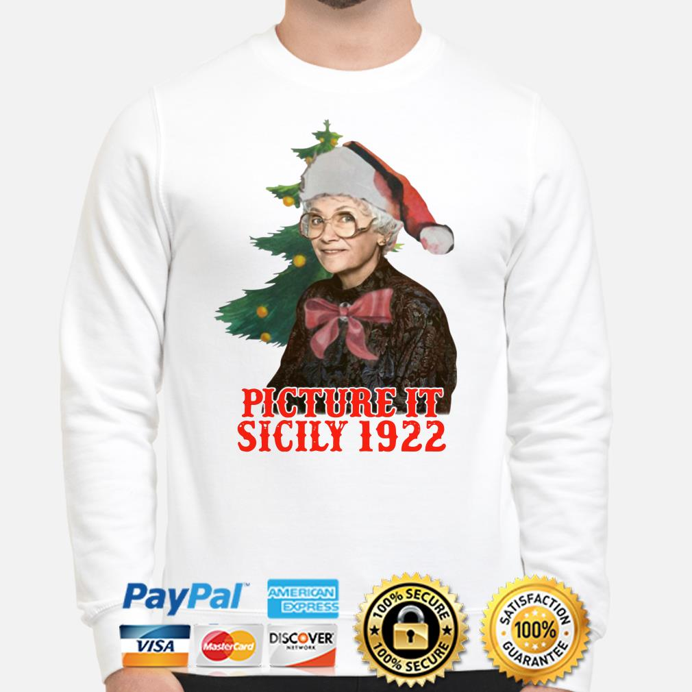The Golden Girls Sophia Petrillo picture it sicily 1922 Christmas sweater