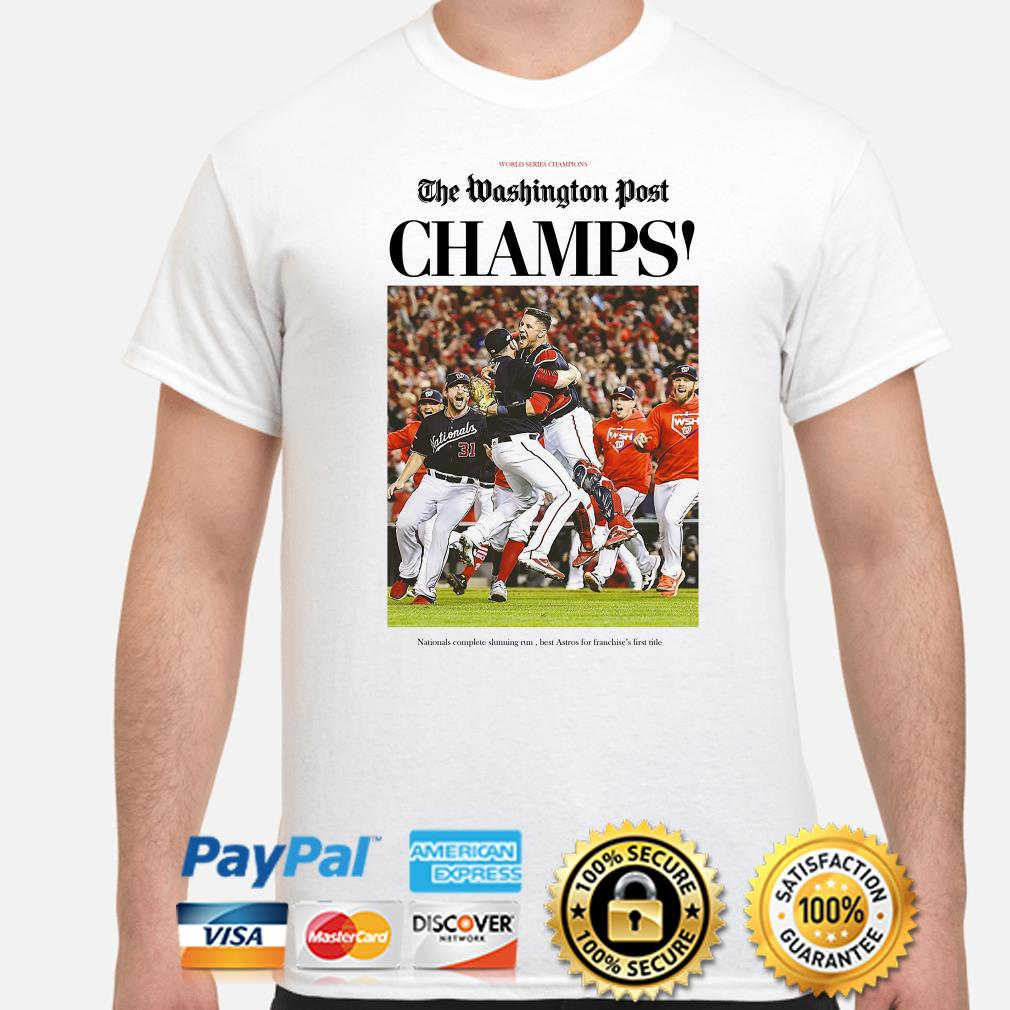 The Washington Post Nationals Champions World Series 2019 shirt
