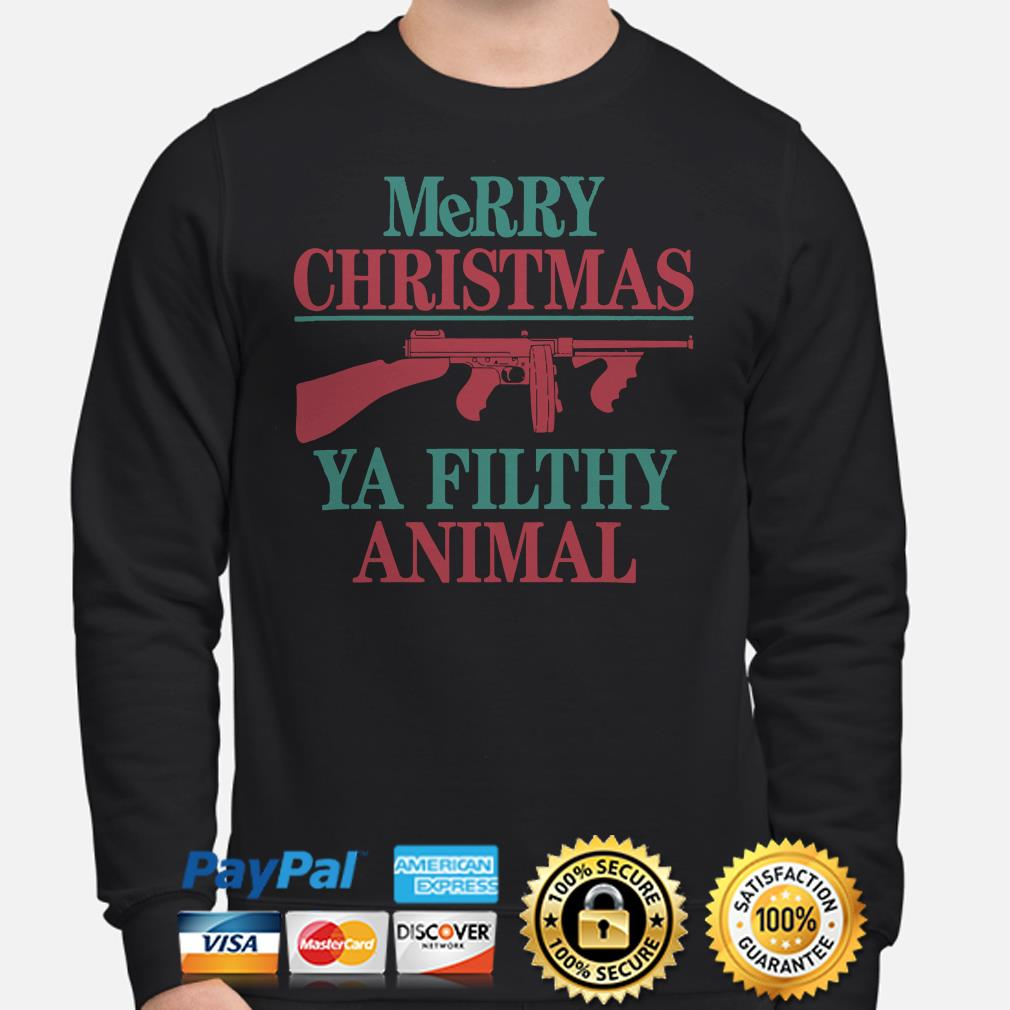 Thompson Merry Christmas ya filthy animal Sweater