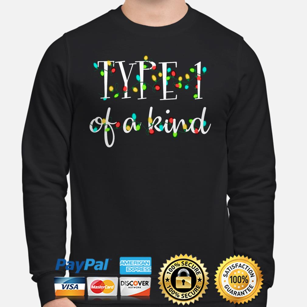 Type 1 of a kind Christmas lights sweater