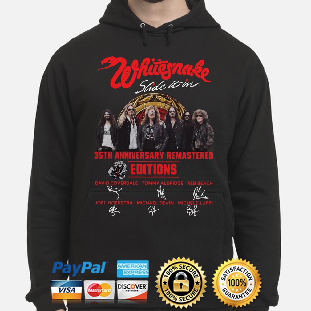 Whitesnake Slide In It 35th Anniversary Remastered Edition signature Hoodie
