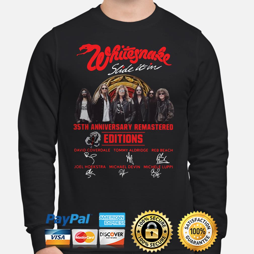Whitesnake Slide In It 35th Anniversary Remastered Edition signature Sweater