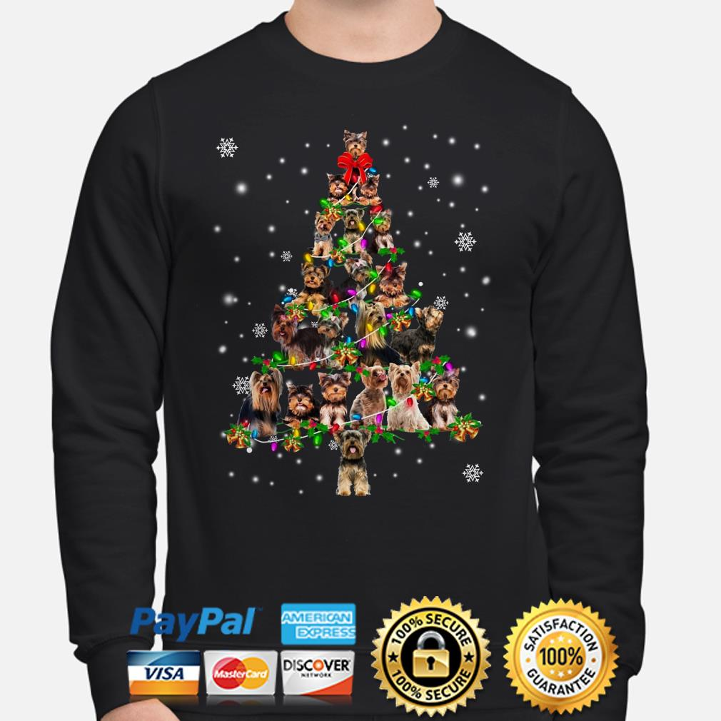 Yorkshire Terrier Christmas tree sweater