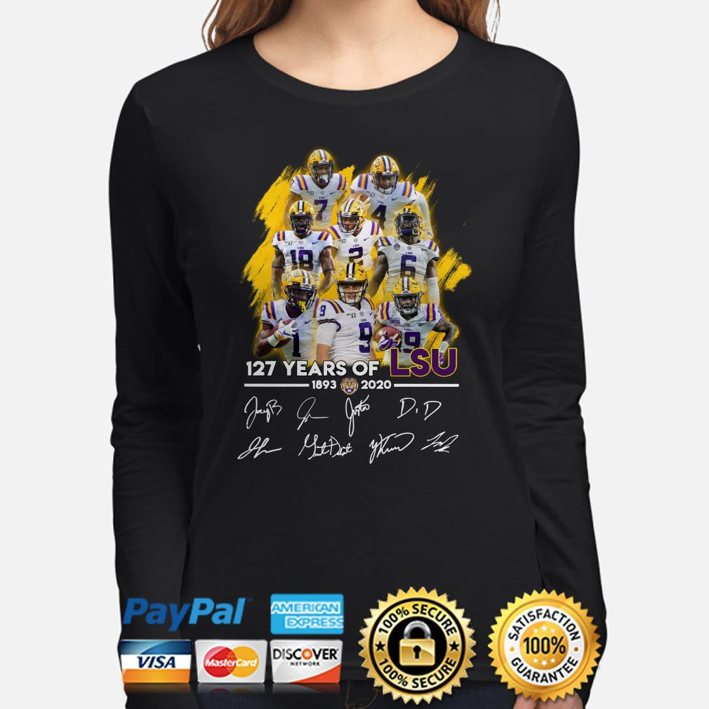 127 years of LSU Tigers signature Long sleeve