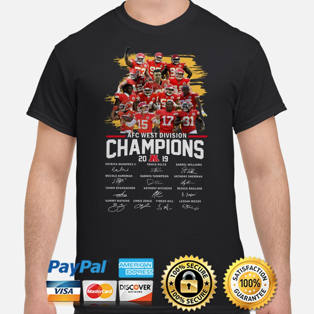 chiefs division champs shirts