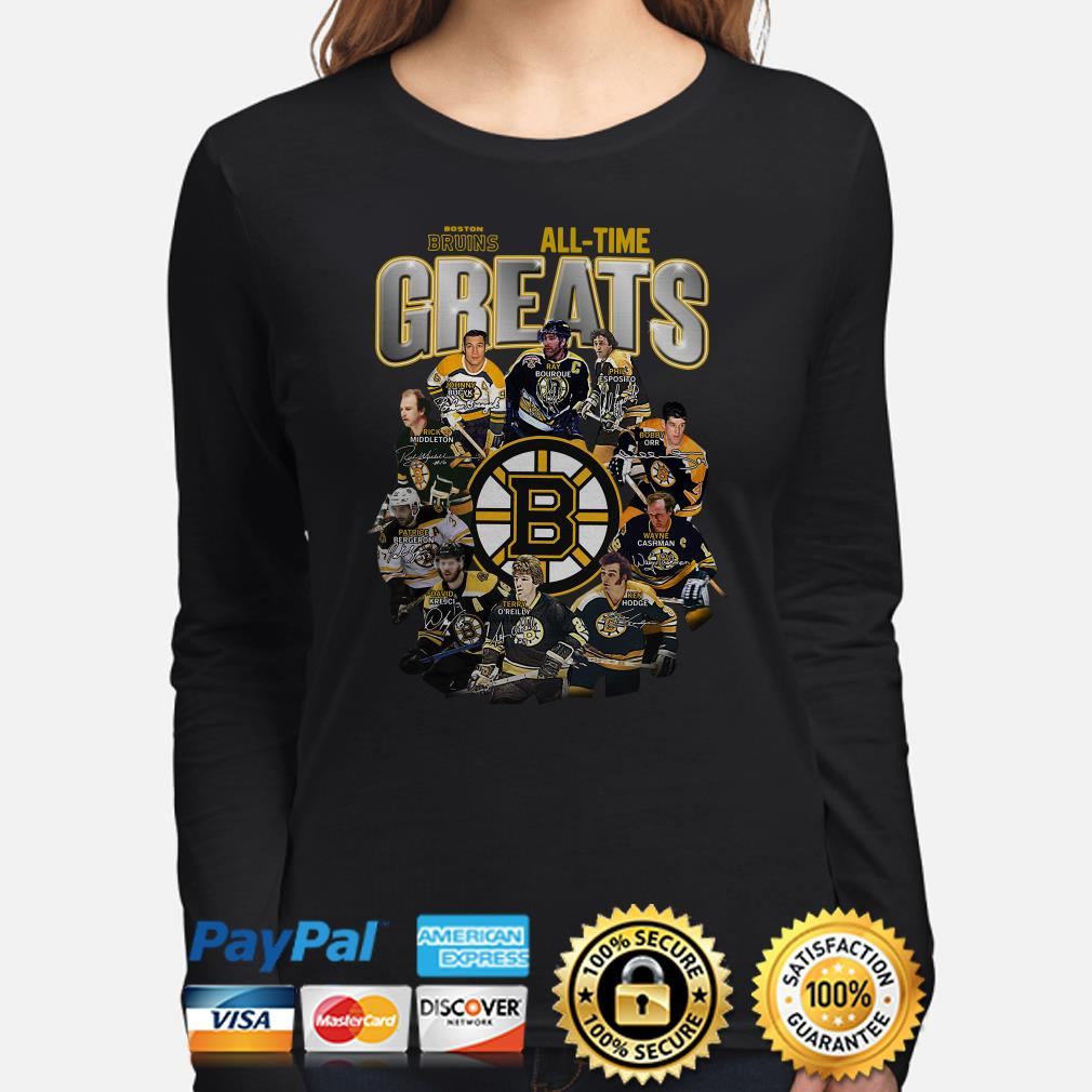 Boston Bruins All-time greats signature Long sleeve
