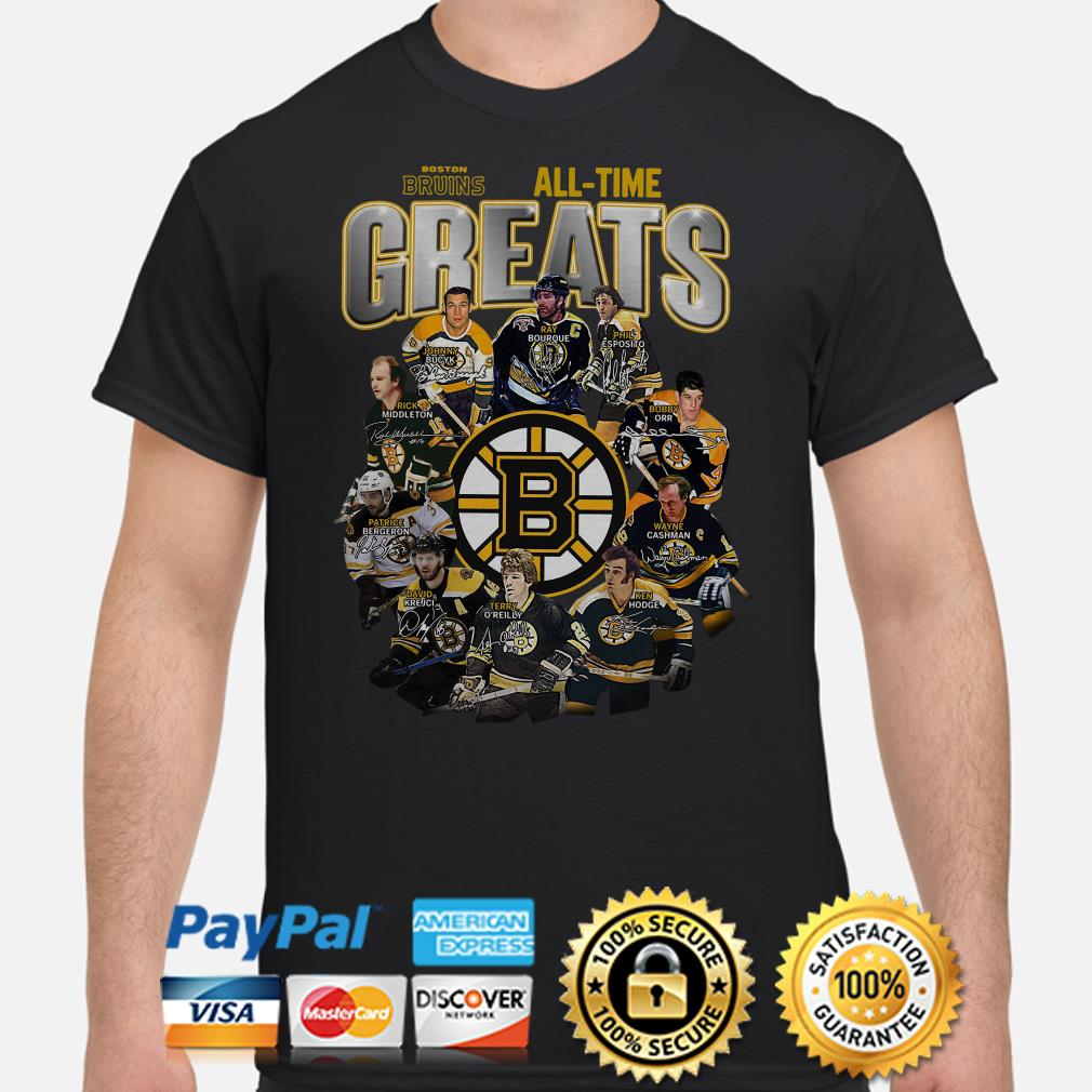 Boston Bruins All-time greats signature shirt