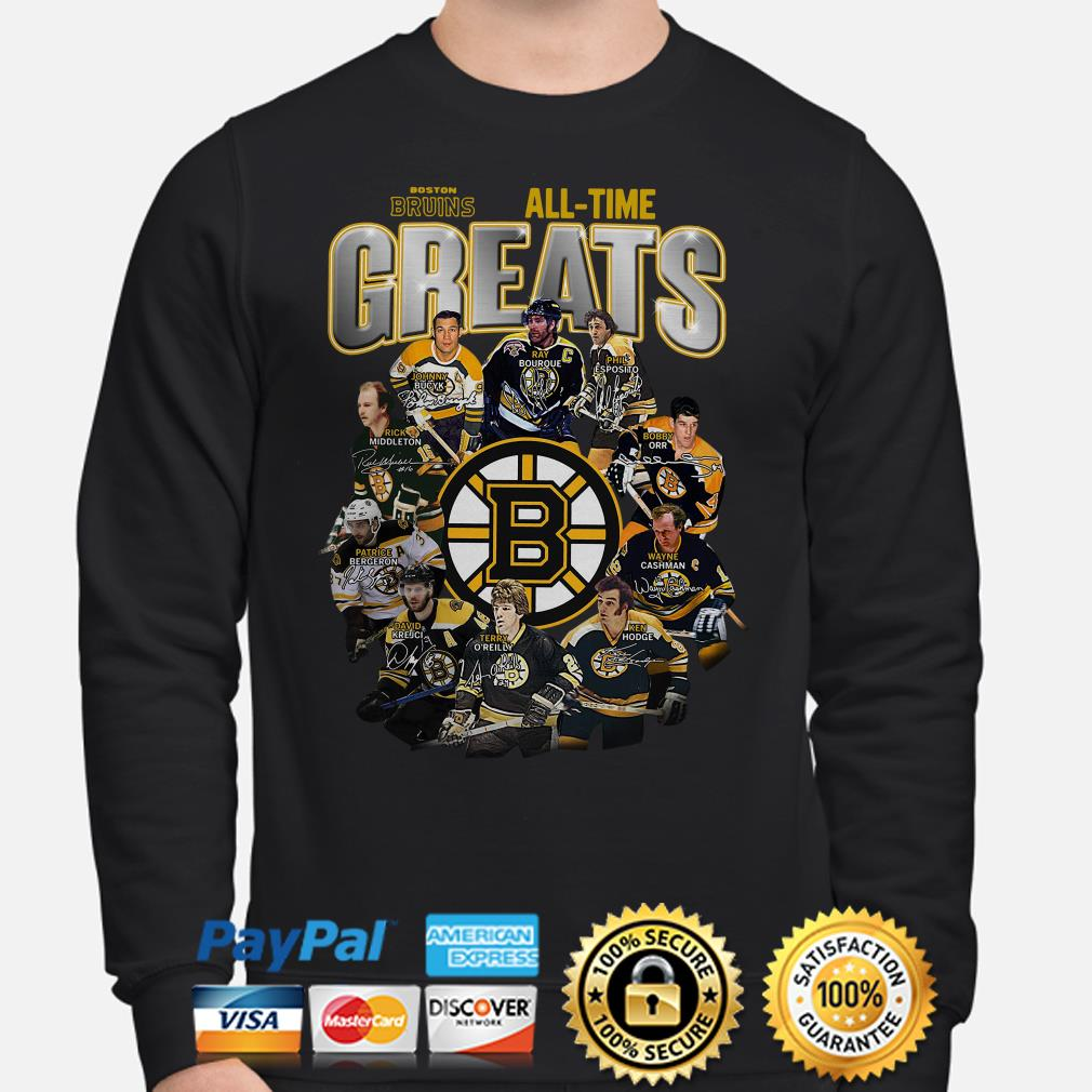 Boston Bruins All-time greats signature Sweater