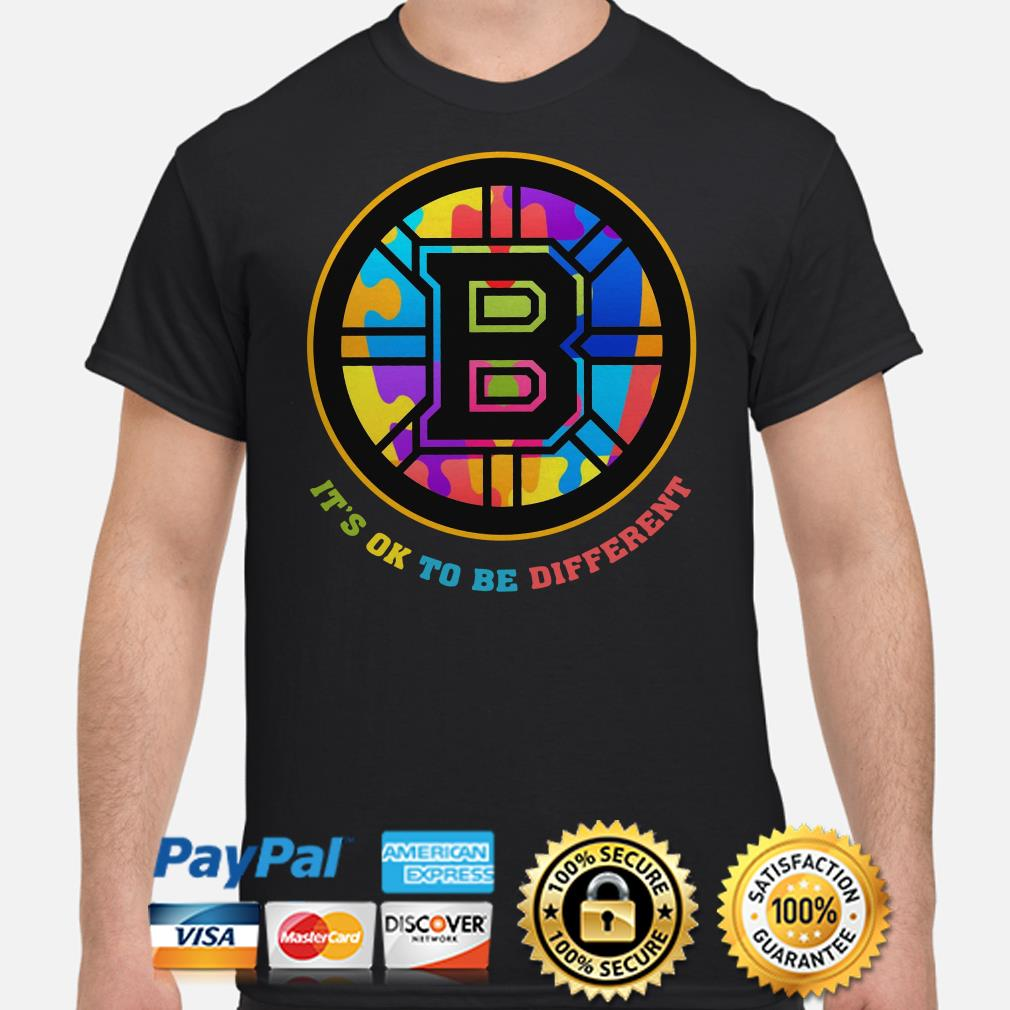 Boston Bruins Autism it's ok to be different shirt