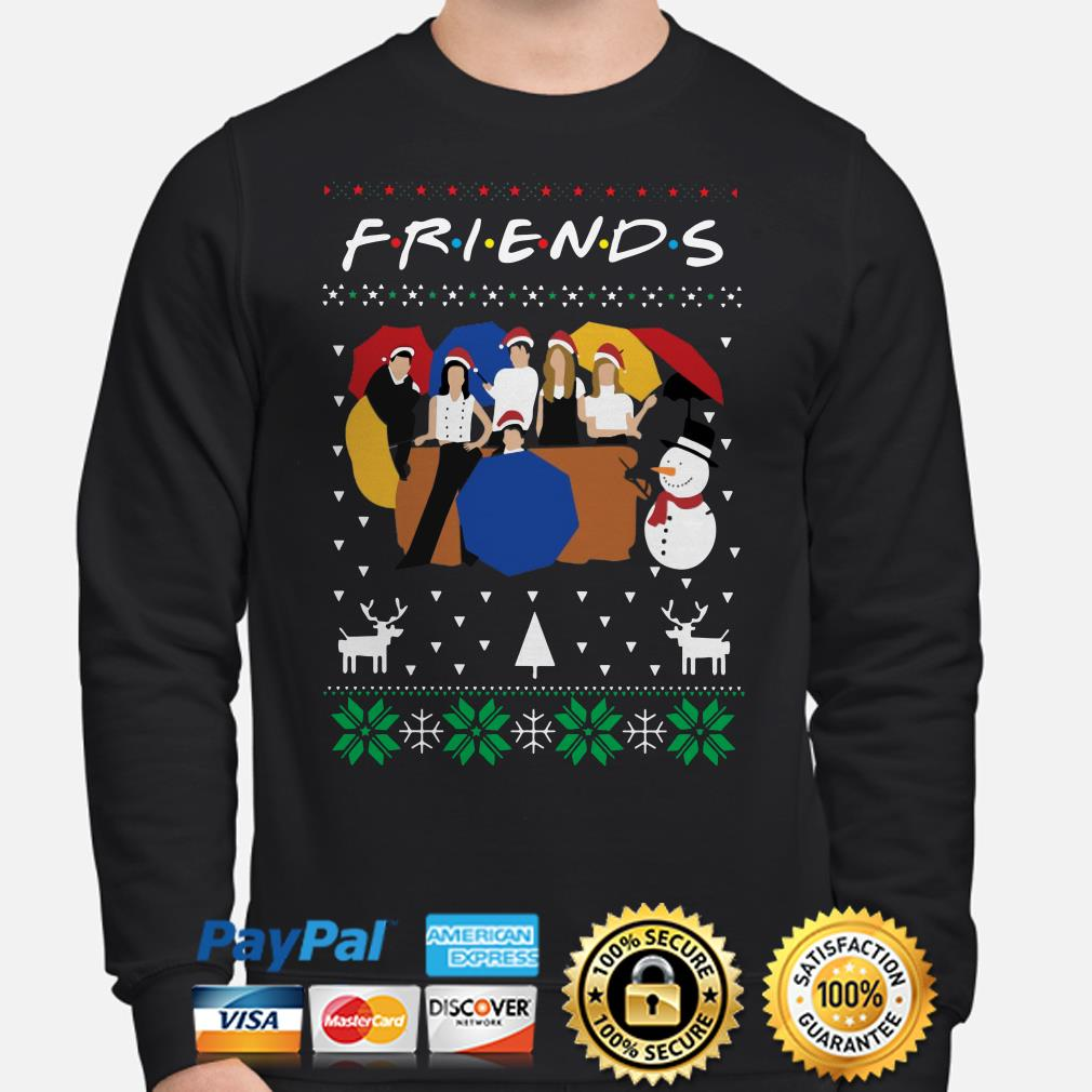 Friends TV show ugly Christmas sweater