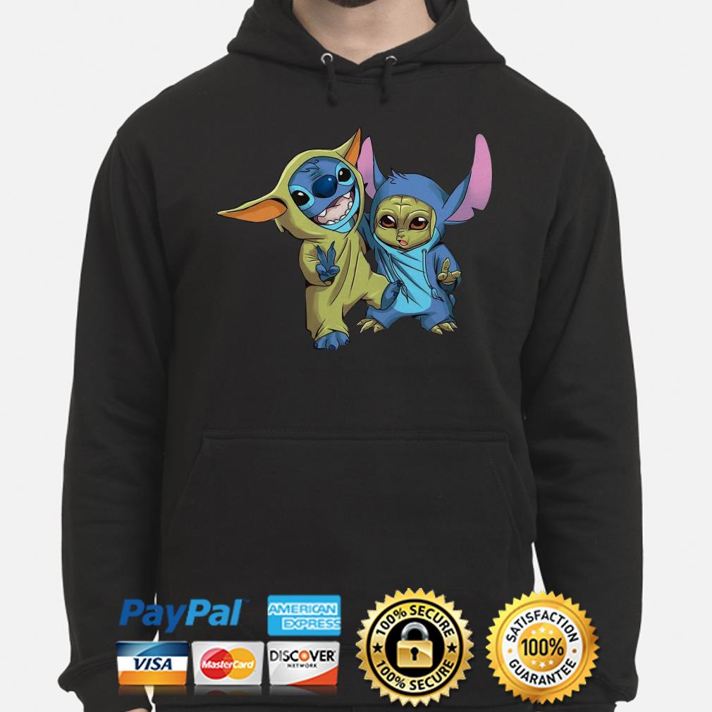 Baby Stitch and Baby Yoda Hoodie