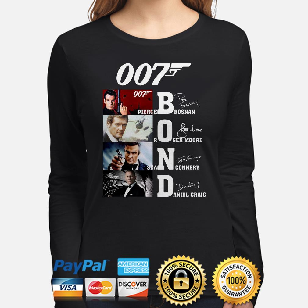 007 Pierce Brosnan Roger Moore Sean Connery Daniel Craig signature Long sleeve