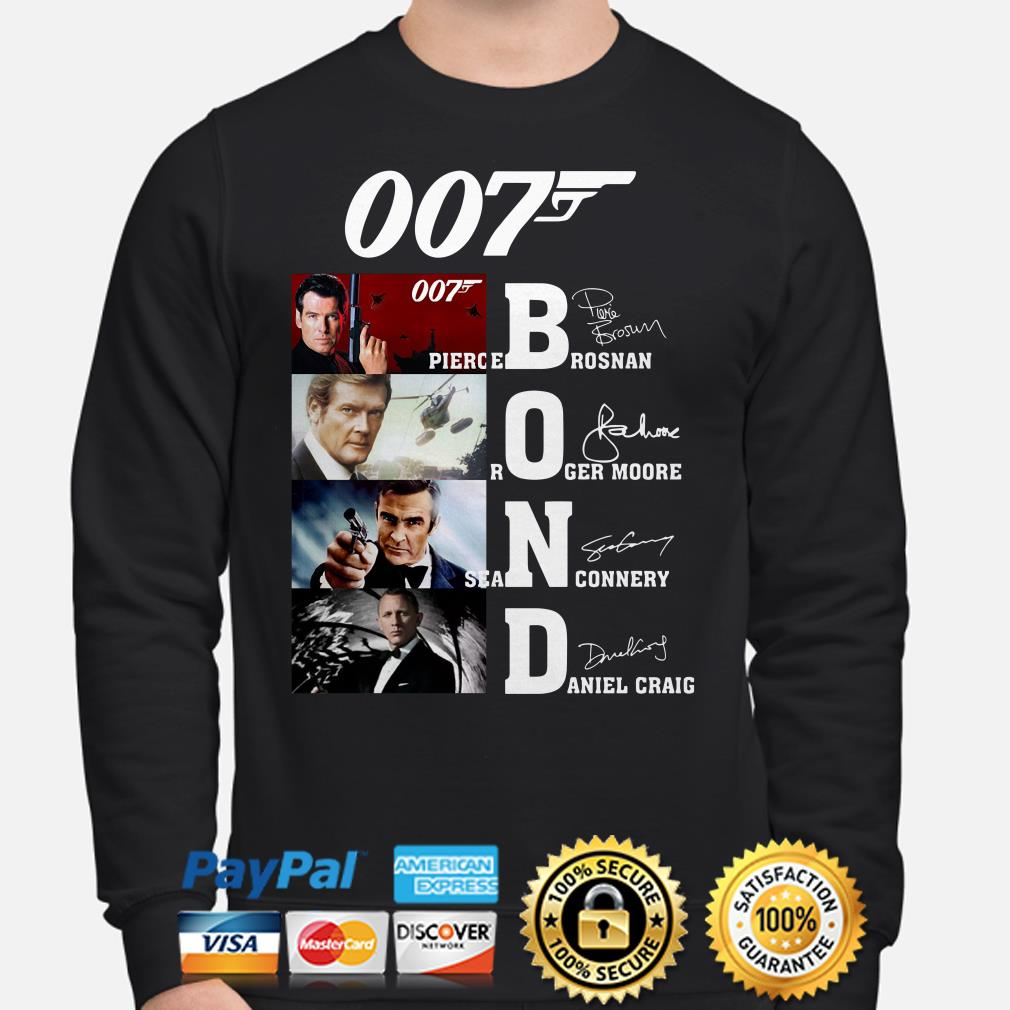 007 Pierce Brosnan Roger Moore Sean Connery Daniel Craig signature Sweater
